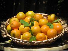 Free Oranges In A Basket Royalty Free Stock Image - 8948646