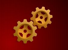 Free Vector Illustration Of Golden Gears Stock Photo - 8948660