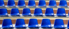 Free Many Blue Stadium Seats Royalty Free Stock Photo - 8948985