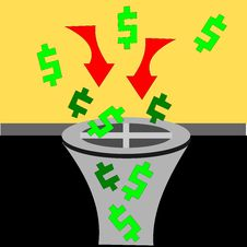 Free Money Down The Drain Stock Images - 8949114