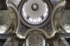 Free Dome Inside The Pantheon Royalty Free Stock Image - 8949246