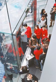 Free Apple Store Opening @ Guangzhou Stock Photography - 89439962