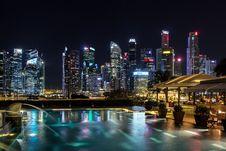 Free Singapore Skyline Royalty Free Stock Photos - 89441848