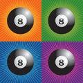 Free Retro Billiard Balls Stock Photography - 8951172