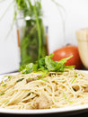 Free Pasta With Salad Stock Image - 8952301