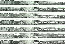 One Hundred Dollar Bills. Close-up Shot Stock Image