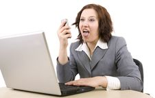 Free Woman With Laptop Royalty Free Stock Photography - 8950457