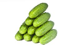 Green Cucumber Vegetable Fruits Stock Image