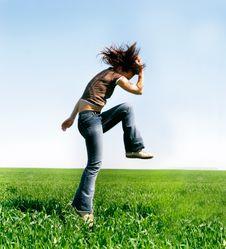 Free Jumping Girl Stock Image - 8950671