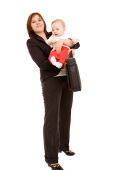 Free Businesswoman With Baby Royalty Free Stock Photos - 8950808