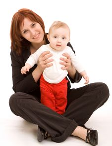 Free Businesswoman With Baby Stock Photography - 8950822