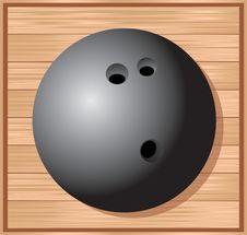 Bowling Ball On The Alley Royalty Free Stock Photography