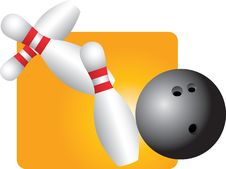 Free Bowling Strike Royalty Free Stock Images - 8951009