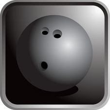 Free Bowling Ball Icon Stock Photography - 8951012