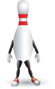 Free Bowling Pin Cartoon Man Stock Photo - 8951020