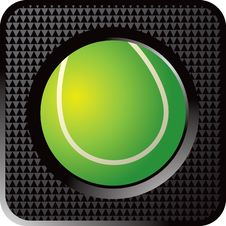 Free Tennis Ball Web Button Royalty Free Stock Images - 8951079