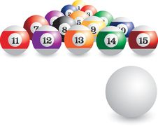 Free Isolated Set Of Billiard Balls Stock Photos - 8951103