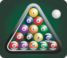 Free Racked Set Of Billiard Balls Stock Photo - 8951150