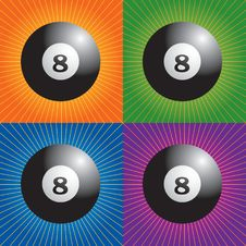 Free Retro Billiard Balls Stock Photography - 8951172