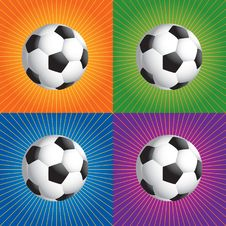 Free Retro Soccer Balls Royalty Free Stock Image - 8951176