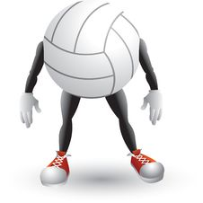 Free Volleyball Cartoon Character Stock Image - 8951241