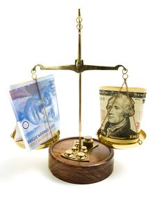 Free Dollar Scale Royalty Free Stock Image - 8951696