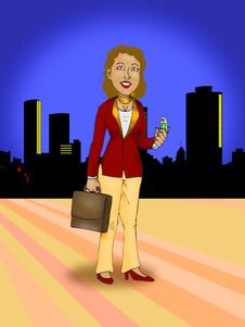 Free Business Woman In City Background Stock Photo - 8951990