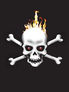 Free Hideous Skeleton Royalty Free Stock Image - 8952236