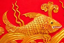 Free Fish In Traditional Thai Art Royalty Free Stock Photography - 8952347