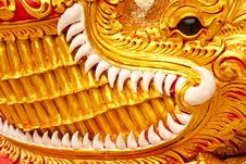 Free Crocodile In Traditional Thai Art Stock Photos - 8952443