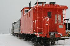 Free Caboose In The Snow Royalty Free Stock Image - 8953046