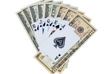 Free American Dollars And Poker Cards Stock Photography - 8954582