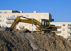 Free Excavator On The Construct Area Stock Photo - 8954710