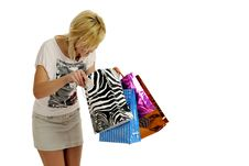 Free Girl Shopping Stock Images - 8955614