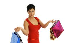 Free Girl Shopping Stock Photo - 8955910
