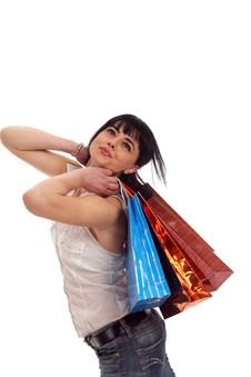 Free Girl Shopping Stock Image - 8956051