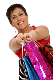 Free Girl Shopping Royalty Free Stock Photo - 8956565
