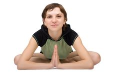 Free Young Woman Making Yoga Royalty Free Stock Images - 8957599