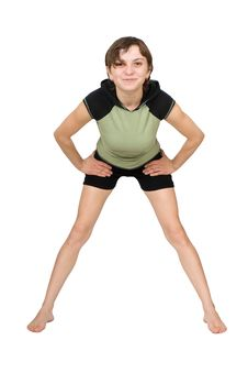 Young Woman Making Fitness Exercises Stock Photos