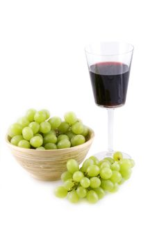 Free Red Wine, White Grapes. Royalty Free Stock Photo - 8957775