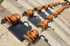 Free Row Of A  Rusty Bolts Stock Image - 8958161