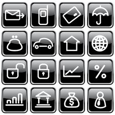 Free Business Icons Royalty Free Stock Photo - 8958215