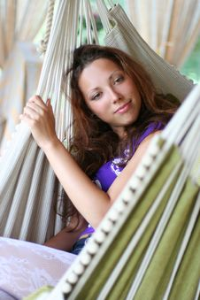 Free Relaxing In Hammock Stock Photography - 8958572