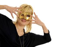Free Lady With Mask Stock Photography - 8958642