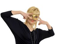 Free Lady With Mask Royalty Free Stock Images - 8958659