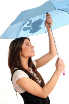 Free Woman With Umbrella Royalty Free Stock Photo - 8958995
