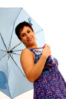 Free Woman With Umbrella Stock Images - 8959014