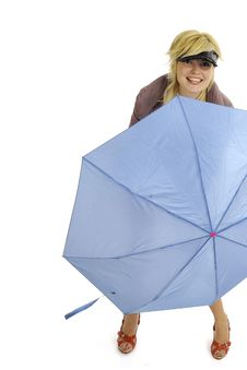Free Fashion Model With Umbrella Stock Images - 8959024
