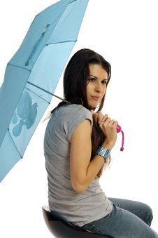 Free Fashion Model With Umbrella Royalty Free Stock Photo - 8959075