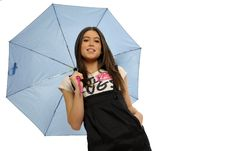 Free Woman With Umbrella Stock Photography - 8959142